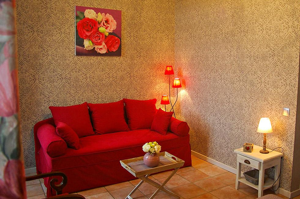 bois de rose chambre dhtes avec coin dtente - Chambre Bois De Rose
